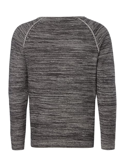 Jack & Jones Pullover in Melangeoptik Schwarz - 1