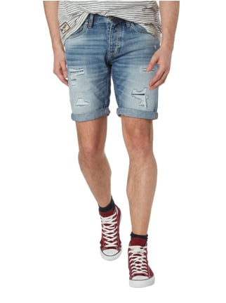 Jack & Jones Regular Fit Jeansbermudas im Destroyed Look Jeans - 1
