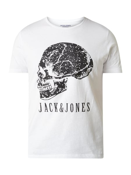 Jack & Jones Regular Fit T-Shirt mit Logo-Print Weiß - 1