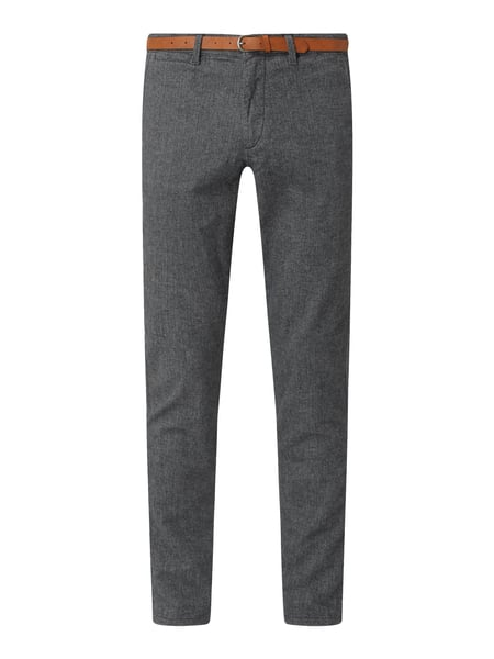 Jack & Jones Slim Fit Chino mit Stretch-Anteil Modell 'Marco' Grau - 1