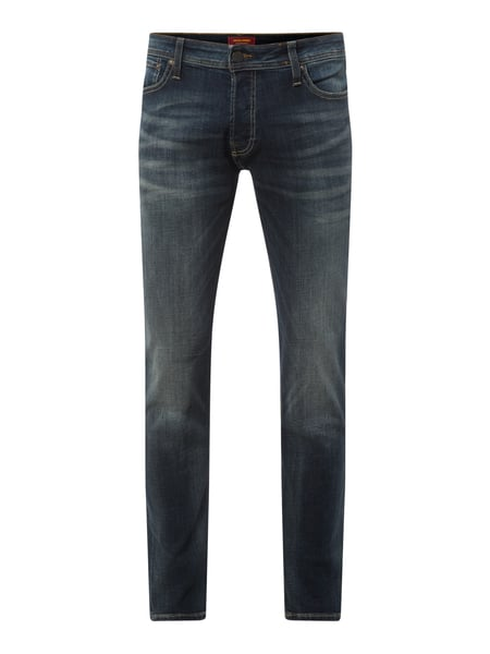 Jack & Jones Slim straight fit jeans met stretchgehalte Blauw - 1