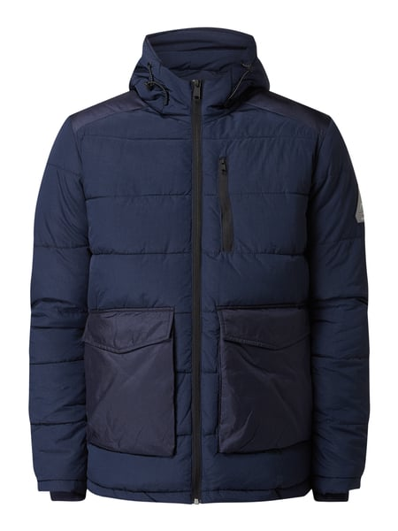 Jack & Jones Steppjacke mit Kapuze Blau - 1