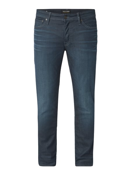 Jack & Jones Stone Washed Slim Fit Jeans Blau - 1