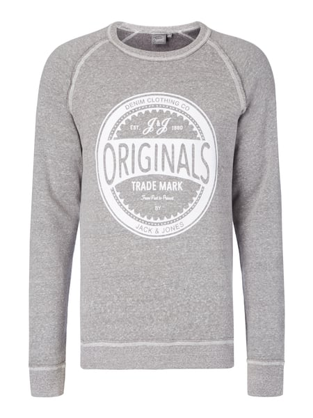 959b4733c870b3 JACK-JONES Sweatshirt mit Logo-Flockprint in Grau   Schwarz online ...