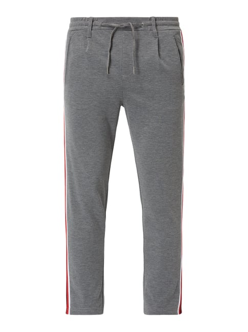 c41a3c2c3629ad Jack   Jones Tapered Fit Trackpants mit Paspeltaschen Grau   Schwarz ...