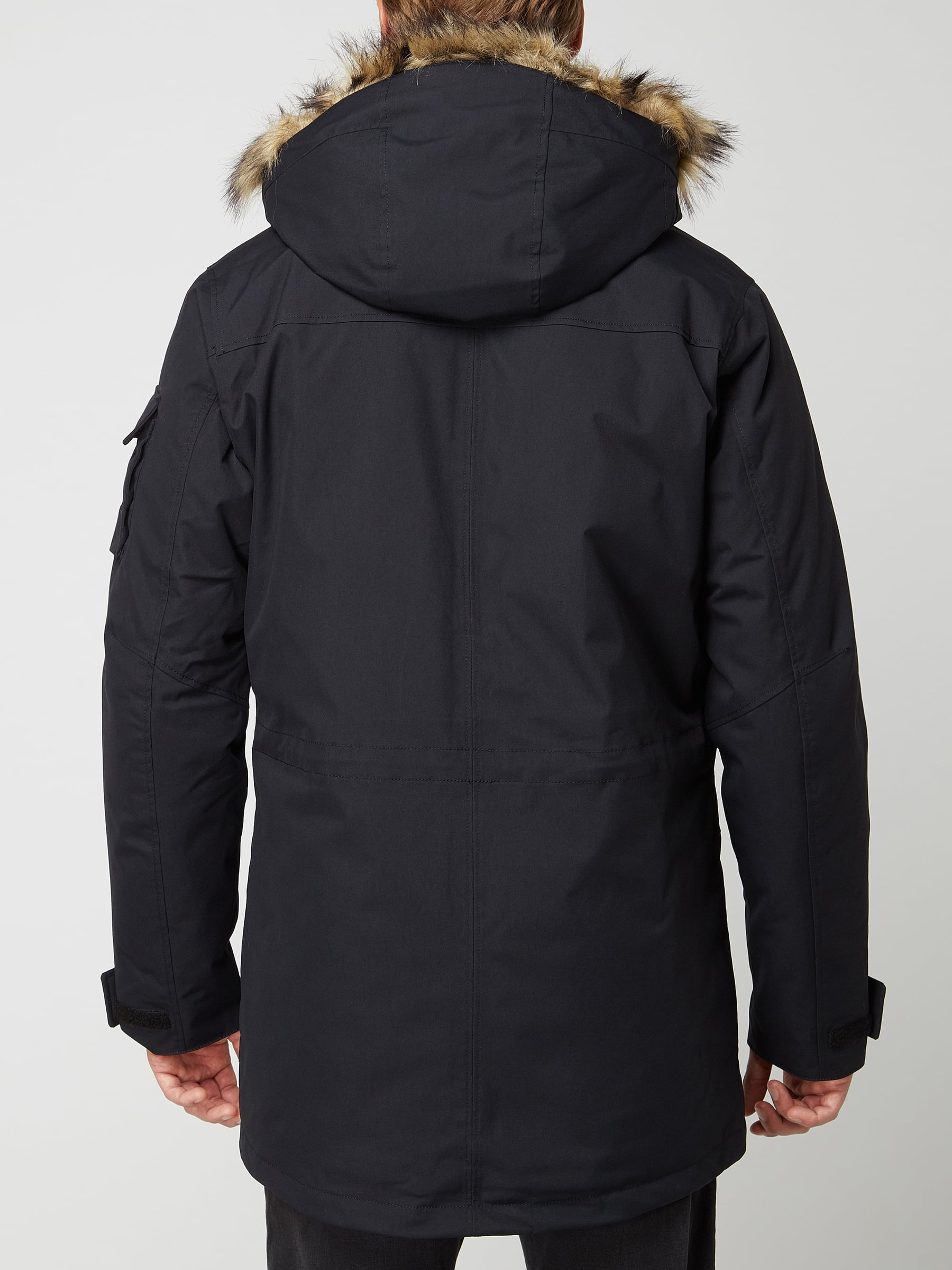 Jack Wolfskin Fair Wear Foundation Parka mit Wattierung wasserdicht Schwarz
