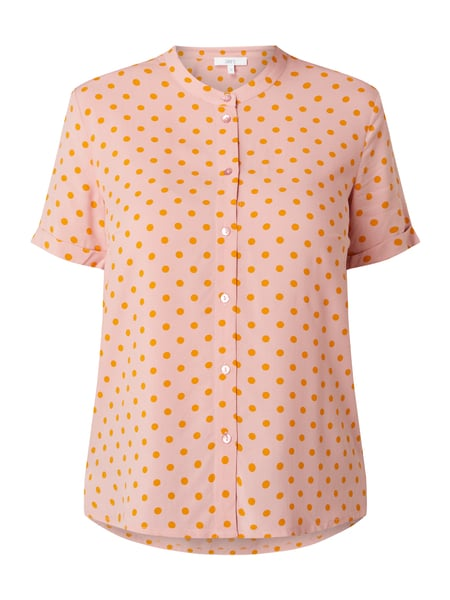 Jake*s Casual Bluse mit Allover-Muster Rosa - 1