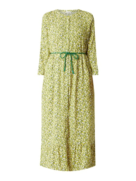 Jake*s Casual Blusenkleid mit floralem Muster Gold - 1