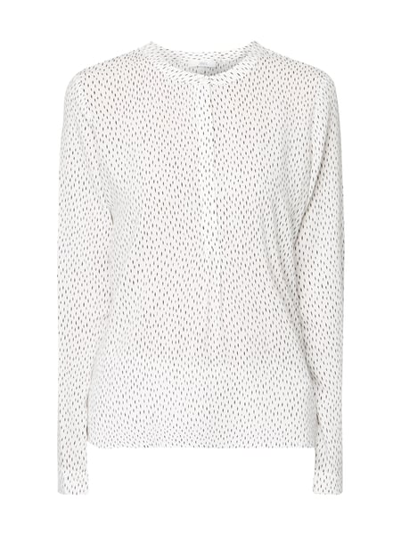 Jake*s Blusenshirt mit Allover-Muster Offwhite