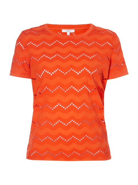 Blusenshirt mit Zickzack-Stickereien Orange - 1