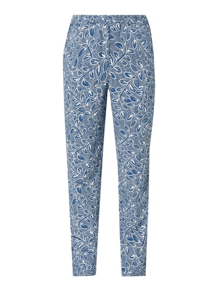 Jake*s Casual Easy Pants mit Allover-Muster Blau - 1
