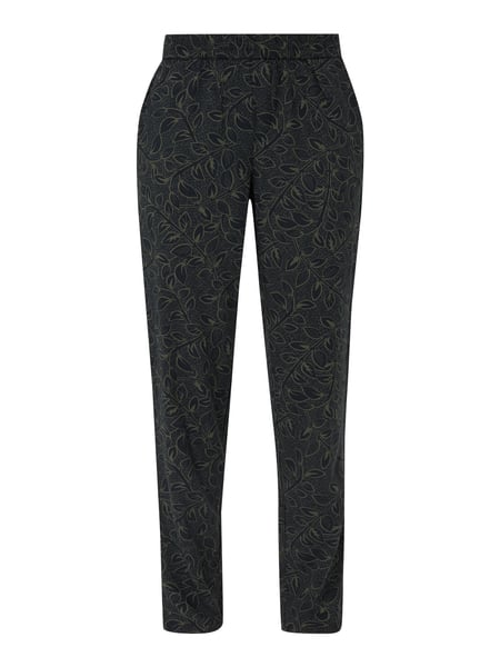 Jake*s Casual Easy Pants mit Allover-Muster Grün - 1
