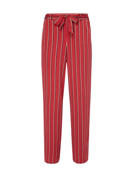 Jake*s Casual Easy Pants mit Streifenmuster Rot - 1