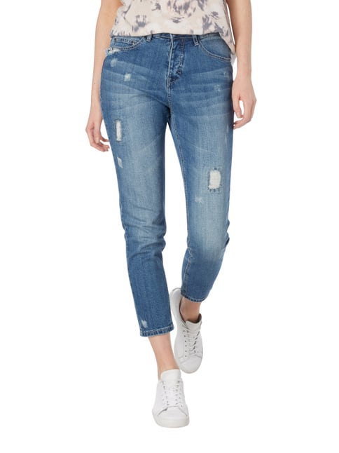 Jake*s Girlfriend Fit Jeans im Destroyed Look Hellblau meliert - 1