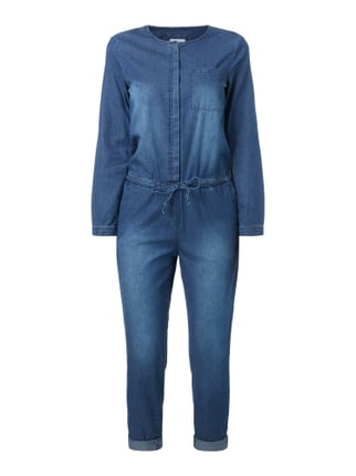Jeansoverall im Stone Washed Look Blau / Türkis - 1