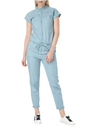 Jake*s Jumpsuit aus leichtem Denim in Blau / Türkis - 1
