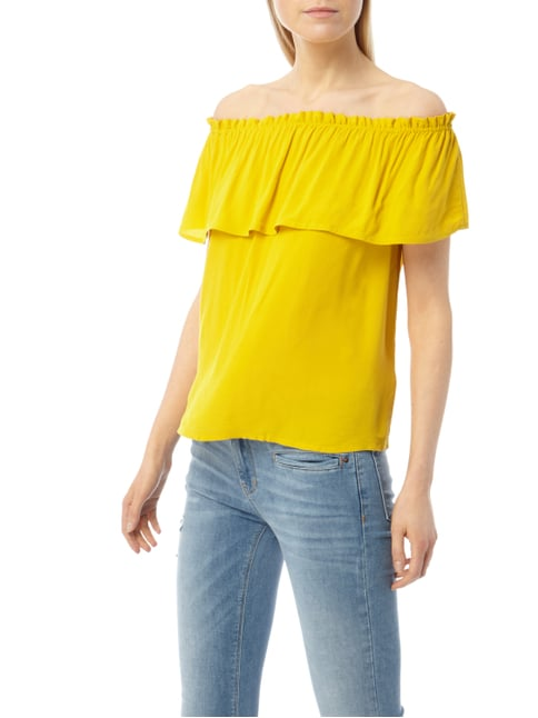 Jake*s Off Shoulder Blusenshirt aus Viskose Gelb - 1