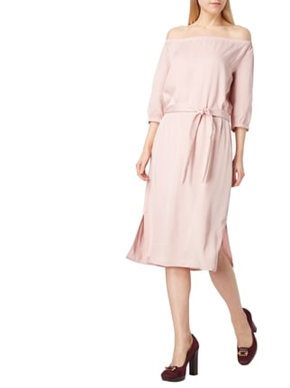 Jake*s Off Shoulder Kleid mit Taillengürtel in Rosé - 1