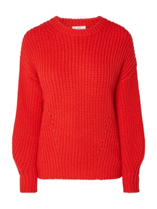 Jake*s Pullover aus Grobstrick Rot - 1