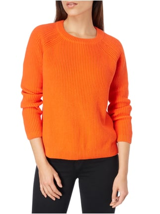 Jake*s Pullover im Rippenstrick Orange - 1