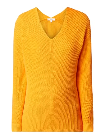 Jake*s Casual Pullover mit Rippenstruktur Orange - 1