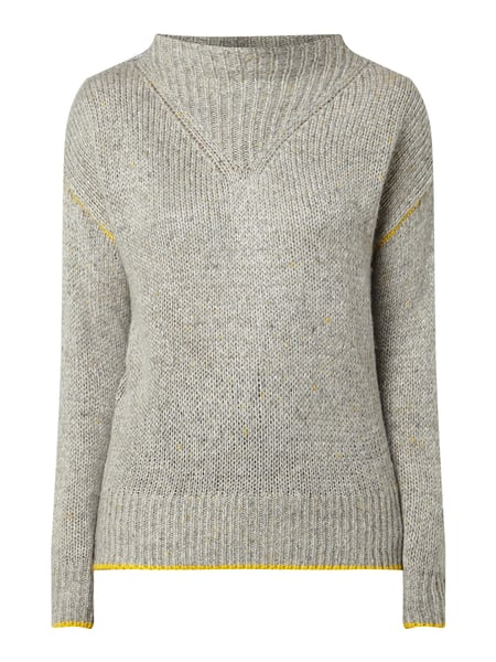 Jake*s Casual Pullover mit Rippenstruktur Silber - 1