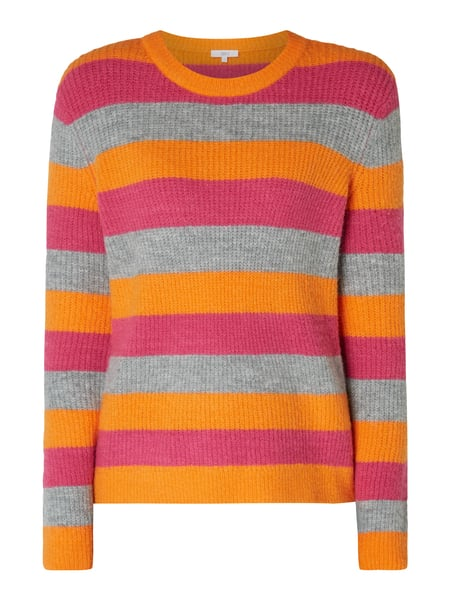 Jake*s Casual Pullover mit Streifenmuster Orange - 1