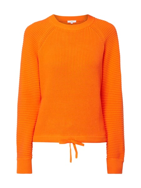 Jake*s Casual Pullover mit Tunnelzug am Saum Orange - 1