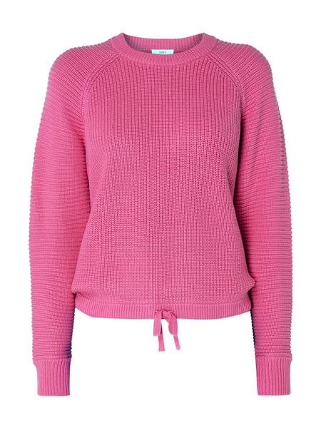 Jake*s Casual Pullover mit Tunnelzug am Saum Rosa - 1