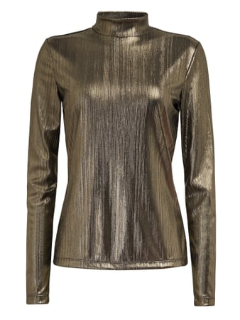 Jake*s Casual Shirt in Metallic-Optik Gold - 1