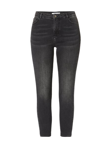 JAKES Stone Washed High Rise Slim Fit Jeans in Grau   Schwarz online ... ad1c9211db