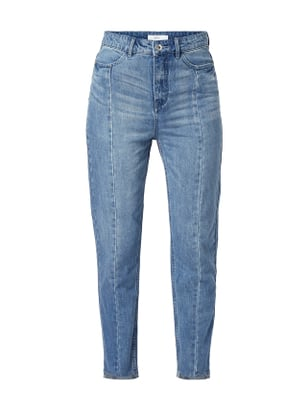 Jake*s Casual Stone Washed Mom Fit Jeans Blau - 1