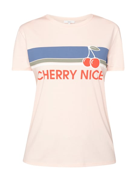 Jake*s T-Shirt mit Print und Message Rosa
