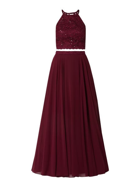 Jake*s Cocktail 2-in-1-Abendkleid mit Pailletten-Applikationen Rot - 1