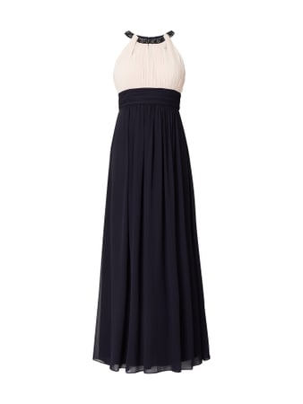 Jake*s Cocktail Abendkleid aus Chiffon Blau / Türkis - 1