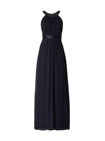 Jake*s Cocktail Abendkleid aus Chiffon mit Cut Outs Blau / Türkis - 1