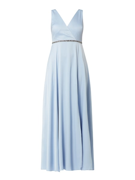 Jake*s Cocktail Abendkleid aus Satin mit Ziersteinen Blau - 1