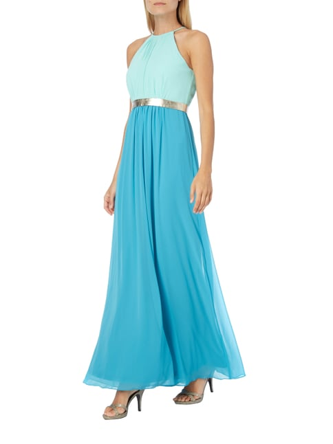 Jake*s Cocktail Abendkleid in Two-Tone-Machart in Blau / Türkis - 1