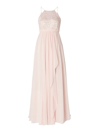 Jake*s Cocktail Abendkleid mit Pailletten-Applikationen Rosa - 1