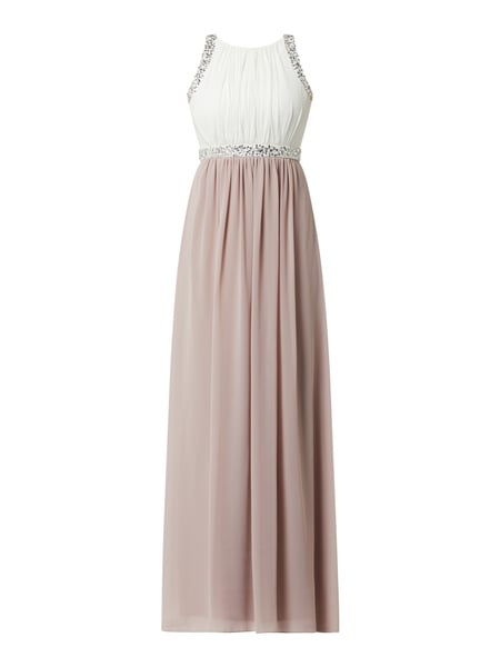 Jake*s Cocktail Abendkleid mit Pailletten Rosa - 1