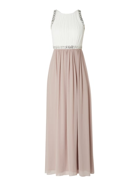 Jake*s Cocktail Abendkleid mit Ziersteinen Rosa - 1