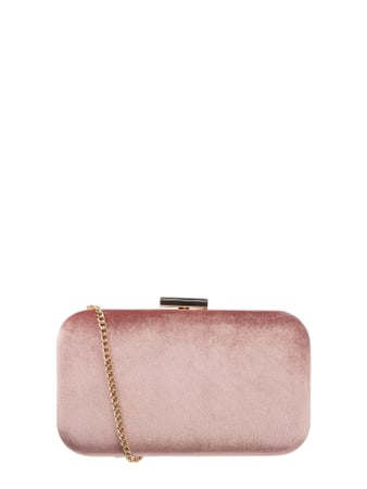 Jake*s Cocktail Box Clutch aus Samt Rosa - 1