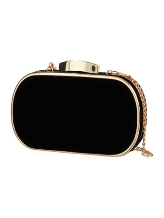Jake*s Cocktail Box Clutch aus Samt Grau / Schwarz - 1