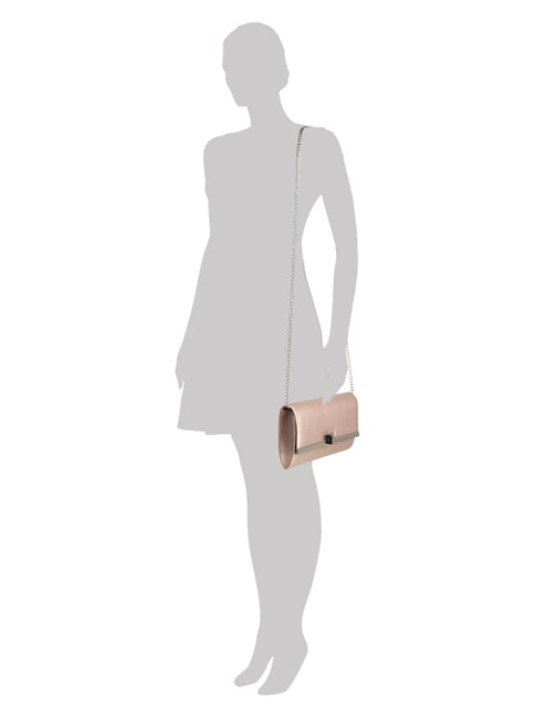 Jake*s Cocktail Clutch aus Satin in Rosé - 1