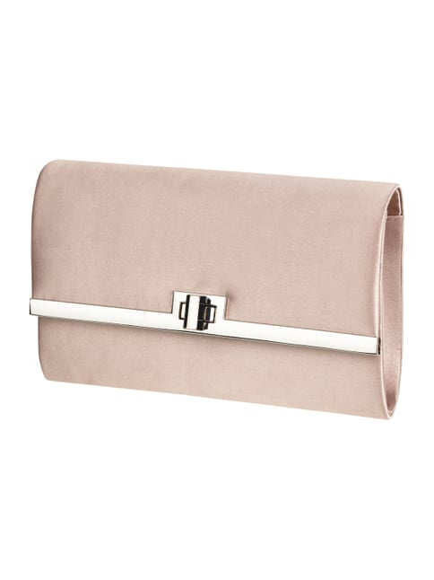Clutch aus Satin Rosé - 1