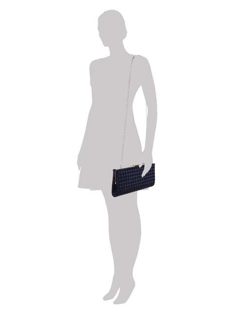 Jake*s Cocktail Clutch aus Satin in Flechtoptik in Blau / Türkis - 1