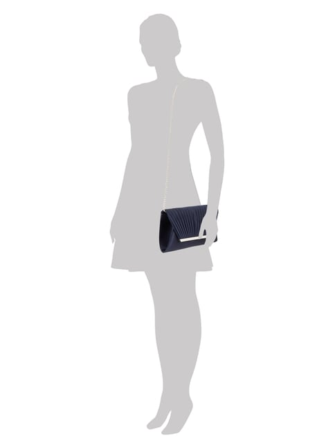 Jake*s Cocktail Clutch aus Satin in Blau / Türkis - 1