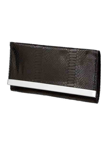 Jake*s Cocktail Clutch in Schlangenlederoptik Schwarz
