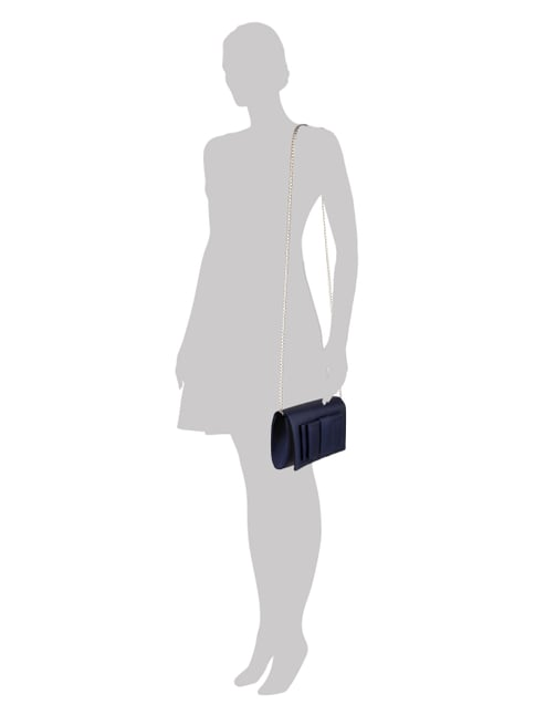 Jake*s Cocktail Clutch mit Zierschleife in Blau / Türkis - 1