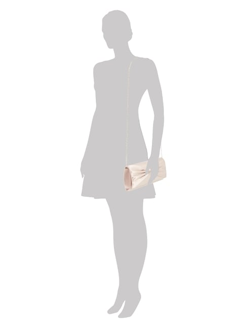 Jake*s Cocktail Clutch mit Zierschleife in Rosé - 1